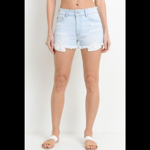 Just USA Pants - JUST USA High Rise Jean Shorts